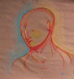 "€du∆rdo √.- drawings, crayons, water color-  ""sketch_Adan"""
