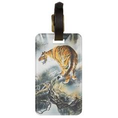 Dress up and customize any suitcase or bag with this stunning Asian Tiger luggage tag from Zazzle. Feel free to customize this design and make it your own.