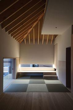 Totem room study Horizontal slit window to study desk Wengawa House, Japan by Katsutoshi Sasaki + Associates.