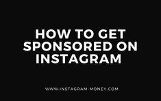 How to Get Sponsored on Instagram ( BEST ARTICLE) Instagram Money, Get Instagram, Instagram Posts, Rachel Brathen, Instagram Influencer