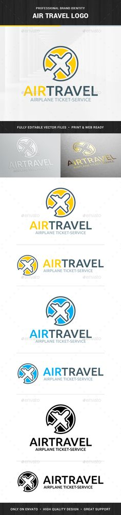 Air Travel logo Template,agency, air, airplane, blog, boarding, buy, company, flight, line, logo, modern, online, plane, template, ticket, travel, traveling, vector