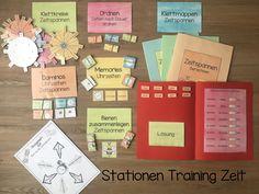 Für meine Klasse habe ich Stationen zum Thema Zeit erstellt. Dazu habe ich den Kindern noch ein Übungsheft gemacht. Die Bilder sind von Kate Hadfield. Das Material gibt es seit heute beim Lehrermarktplatz.