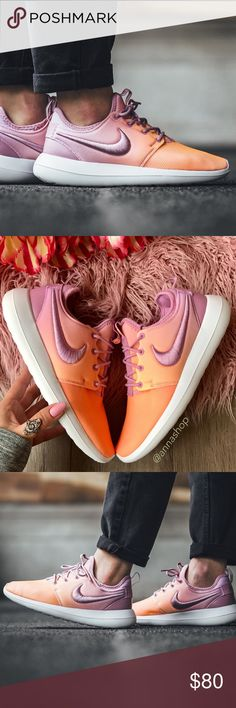 NWT Nike Roshe Two Ombré⭐️ Brand new no box, price is firm!Elevate your casual footwear with the updated Women's Nike Roshe Two Casual Shoes. Stretchy synthetic and mesh upper Pull tabs at the heel and tongue Triple-density foam through the midsole for plush cushioning Flexible rubber sole with grooves for traction The Nike Roshe Two BR is imported. Easy and breezy, the Women's Nike Roshe Two Casual Shoes take you from coffee dates to class to the streets in maximum comfort and easygoing…