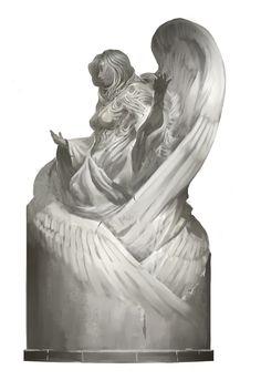 Kekai Kotaki - Dwayna god statue concept