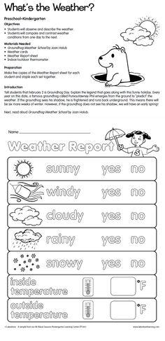 Weather Lesson Plan Ideas | Science-Social Studies | Pinterest ...