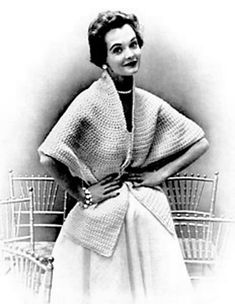 The Vintage Pattern Files: 1950's Crochet - Crocheted Cape Stole
