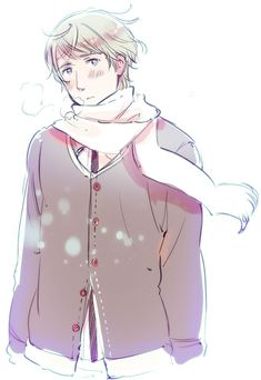 "From Hima's blog. It's cold, he knows it, he just accepts it with a slight sadness. (""samuiiiiiirosirosi.jpg"")"