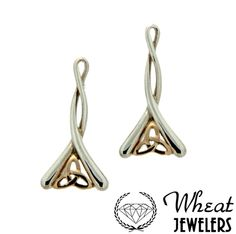 Keith Jack trinity two tone dangle earrings available at Wheat Jewelers
