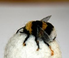 Lovely needle felted bumble bee by Claire Moynihan