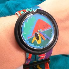 VINTAGE SWATCH Pop Gauguin Watch Circa 1990. Has been in storage. Needs to battery. Part of Swatch history. Pattern is inspired by Gauguin Swatch Accessories Watches