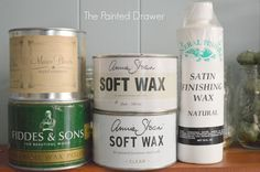 DIY:  All About Furniture Waxes and Sealers - lots of tips that will help you get the job done easier and info on how to work with different brands - via The Painted Drawer
