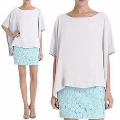 Diane Von Furstenberg white flowey top The perfect white flowey top! Great condition! Diane von Furstenberg Tops