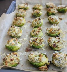 My Favorite Things: Cheesy Garlic and Herb Stuffed Brussels Sprouts from Cooking Stoned