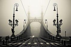 Fog Bridge, Budapest, Hungary  photo via besttravelphotos