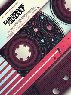 """xombiedirge: """" Guardians of the Galaxy by Guillaume Morellec / Tumblr 18″ X 24″ screen print, numbered edition of 150. Available 12pm EST Tuesday 21st February, 2017 from the Bottleneck Gallery. """""""