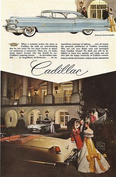 Cadillac, @North Entrance at The Greenbrier, 1956