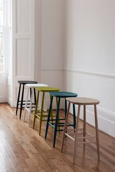 Ercol Originals Bar Stools in Room - March 23 2019 at Painted Bar Stools, Tall Bar Stools, Counter Bar Stools, Kitchen Stools, Bar Chairs, Painted Chairs, Desk Chairs, Side Chairs, Kitchen Cabinets