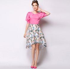 Xandra Colourful Floral Skirt