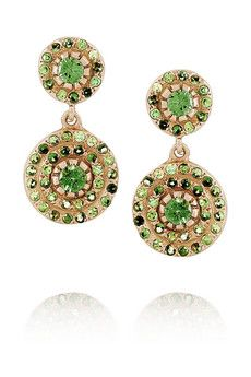 Emerald green earrings (colour of the year)