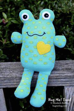 Handmade Sock Toad Stuffed Animal Sock Doll by elizabethruffing, $26.00