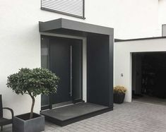 ideas modern front door canopy entrance for 2019 Front Door Canopy, Porch Canopy, Front Door Porch, Front Door Entrance, House Front Door, House With Porch, House Entrance, Design Exterior, Modern Exterior