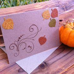 Handmade fall cards- order at jmposhdesigns.etsy.com