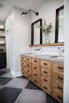 Oh you are going to love today's post on farmhouse bathrooms! It is amazing how you can mix and match different styles in a bathroom. You can go vintage and farmhouse, or modern and farmhouse. Even…MoreMore #BathroomRemodeling