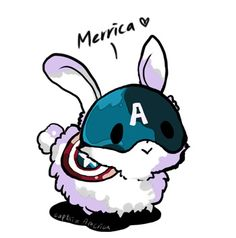 Captain America bunny by teralilac on deviantART
