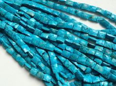 Turquoise Chewing Gum Cut Beads Chinese Turquoise by gemsforjewels