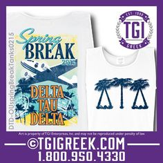 TGI Greek - Delta Tau Delta - Spring break - Greek Tank #tgigreek #deltataudelta #springbreak