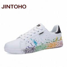 JINTOHO Unisex Casual Shoes Fashion White Women Casual Shoes Cheap Brand Mens Trainers Flats Valentine Shoes Basket Femme 2016