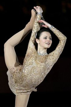 Sasha Cohen -Gold/Natural-hued Figure Skating / Ice Skating dress inspiration for Sk8 Gr8 Designs.
