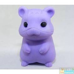 purple hamster   Iwako Animals: Pure Pastel Purple Hamster Eraser Japanese Eraser Toys