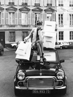 mini cooper...the real one - LOVE the Chanel bags! :P
