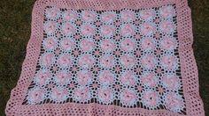 Manta /cobijita  /colcha / frazada para bebe en crochet fácil y rápido (...