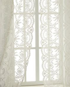 Cotton Lace Panels Imported From Scotland In The Rebecca Pattern Starts At 16195