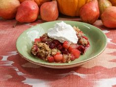 Get Pumpkin Spice Crumble with Pear and Cranberry Recipe from Food Network