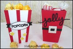 Stampingwithamore: CHRISTMAS IN JULY JOLLY POPCORN BOX
