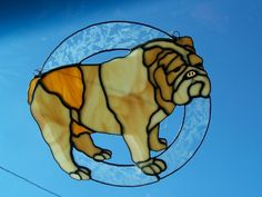 Hey, I found this really awesome Etsy listing at http://www.etsy.com/listing/150842084/bulldog-stained-glass