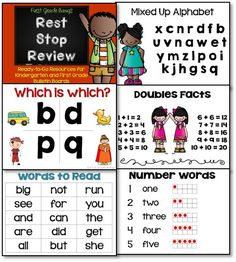 Want to create a basic skills review board for your K or 1st grade classroom? This set has everything you need!