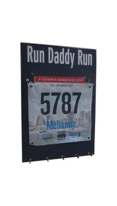 Race bibs medal holder: holder for running by runningonthewall