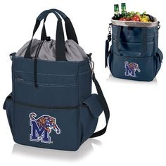 Picnic Time 20 Can NCAA Activo Tote Picnic Cooler NCAA Team: University Of Memphis Tigers, Color: Navy