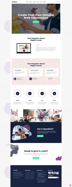 You can create your startup or digital agency website effortlessly with Synergia WordPress theme.  #wordpress #webdesign #theme #layout #template #digital #startup #agency #app #software #technology #landingpage