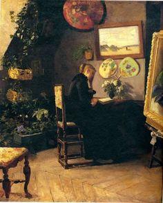 Kitty Kielland, Atelier Interior (Harriet Backer), 1883