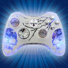 Our extreme edition modded controllers just keep getting MORE EXTREME. Lightning AND skulls?? You can't get much more extreme than this. This new Xbox 360 modded controller is sure to light up your room while you bring in the frags. Features our illuminating skulls design with all the lightning you NEED. GET IT WHILE IT'S HOT!!! Watch the video now: http://www.youtube.com/watch?v=BSD8yGLYUxA=share