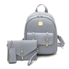 7a52c42a75 Bags - 3Pcs Set Fashion Embossing Composite Backpack