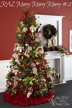 RAZ 2015 Merry Merry Merry Christmas Tree visit http://www.trendytree.com for RAZ Christmas decorations