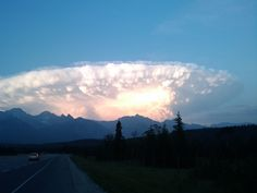 Spaceship Cloud  Posted by: Mitch Dublanica // July 13, 2012  Banff, Alberta // Shot: July 12, 2012