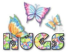 Hugs Butterfly Graphic