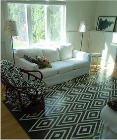 painted rug geometric style